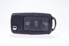 Czarny samochodu klucz z dalekim środkowym zatrzaskiwaniem Fotografia Royalty Free