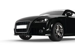 Czarny samochodu przodu zbliżenie Obraz Stock