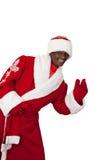 Czarny Santa Zdjęcie Stock