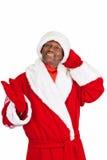 Czarny Santa Obrazy Royalty Free
