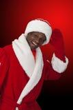 Czarny Santa Zdjęcia Stock