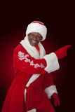 Czarny Santa Zdjęcia Royalty Free