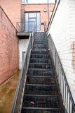 Czarny schody tylny wejście fotografia royalty free