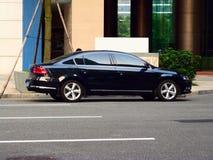 czarny sedan Obraz Royalty Free