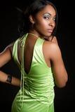 czarny seksowna kobieta fotografia stock