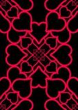 czarny serc miłości czerwień Fotografia Royalty Free