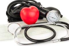 Czarny serce i, kardiogram Obraz Stock