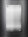 czarny siatki metalu talerza vertical Obraz Stock