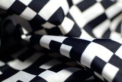 czarny silk white Zdjęcia Royalty Free