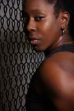 czarny silna kobieta Zdjęcia Royalty Free