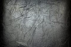czarny skóra Tło struktura fałdy Zdjęcia Royalty Free