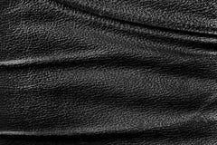 Czarny skóry tekstury tło Obraz Stock