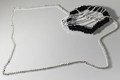czarny składu jewelery światła wight Zdjęcia Stock