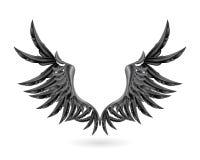 czarny skrzydła Obraz Royalty Free