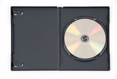czarny skrzynka dvd złoto obrazy stock