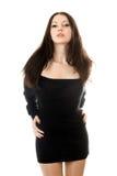 czarny smokingowa ładna kobieta Obraz Royalty Free