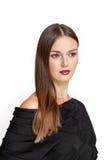 czarny smokingowi dziewczyny portreta potomstwa Zdjęcie Stock