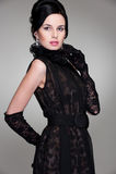 czarny smokingowi eleganckiej kobiety potomstwa fotografia stock