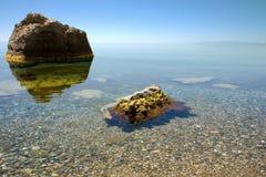 czarny spokojne morze Obraz Royalty Free