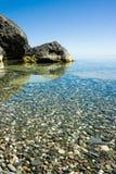 czarny spokojne morze Zdjęcie Royalty Free