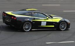 Czarny sportcar Zdjęcie Royalty Free