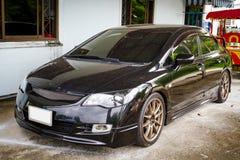 Czarny sportowy samochód Zdjęcia Stock