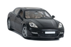Czarny sportowy samochód Turbo Zdjęcia Royalty Free
