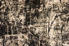 czarny stary porysowany drewno Fotografia Stock