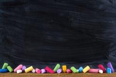 Czarny stary pusty chalkboard Zdjęcie Stock