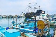 Czarny statek Fotografia Royalty Free