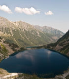 Czarny Staw和Tatry山的Morskie Oko湖 免版税库存照片