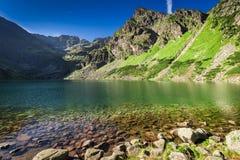 Czarny Staw Gasienicowy jezioro w Tatrzańskich górach, Polska Zdjęcia Royalty Free