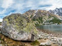 Czarny Staw in High Tatras. The Polish Black Pond Czarny Staw in the High Tatra Mountains, Poland Stock Images