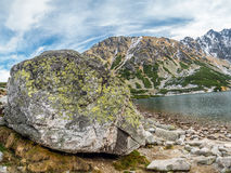 Czarny Staw i höga Tatras Arkivbilder
