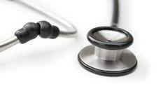 Czarny stetoskop Obraz Stock
