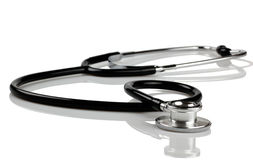 Czarny stetoskop Fotografia Royalty Free