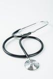 Czarny stetoskop odizolowywający Zdjęcia Royalty Free