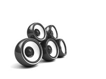 czarny system audio Obrazy Stock