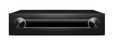 Czarny system dźwiękowy fotografia stock