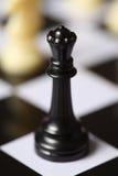 czarny szachowa królowa Fotografia Royalty Free