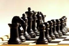 Czarny szachy Obraz Stock