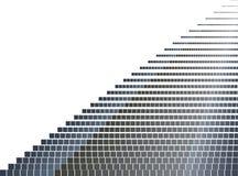 Czarny szarość kwadrata wzór Piksel mozaiki kropki Zdjęcia Royalty Free