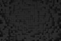 Czarny sześcianu tło Obrazy Stock
