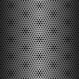 Czarny sześciokąta wzór zdjęcia stock