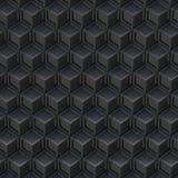 Czarny sześcianu abstrakta tło 3d Obraz Royalty Free