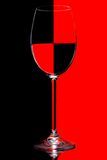 czarny szklana czerwień Obrazy Royalty Free