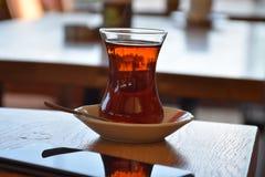 czarny szklana herbata Zdjęcie Stock
