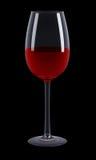 czarny szklany wino Zdjęcia Royalty Free