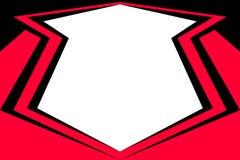 czarny sztandar czerwień Obraz Royalty Free