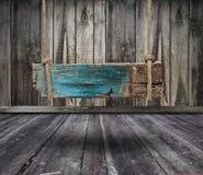 Czarny sztandar drewno w wnętrzu Obrazy Stock